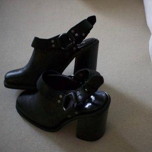 Harnessed Slingback Heel